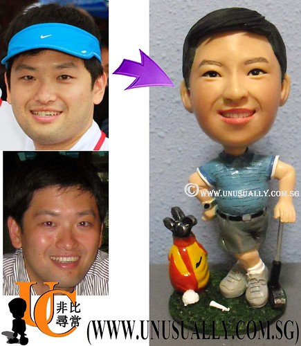 Custom 3D Relaxing Male Golfer Figurine - @ www.unusually.com.sg