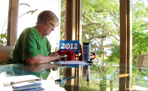 Jan volunteers for President Obama in Florida