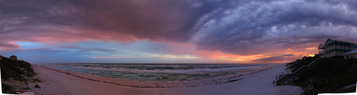 sunset vacation sky panorama storm beach gulfofmexico water clouds reflections sand strawberry waves florida pano blues blueberry shore reds 180degrees dolphinwatch fortwalton surreydune walkerbeachhouse southfortwaltonbeach