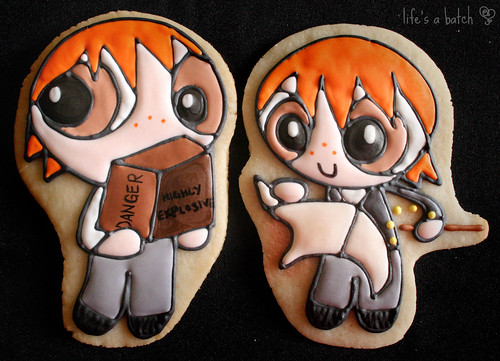Fred & George Wesley Potterpuff Cookies.
