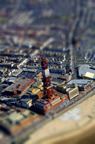 Blackpool Tower - tiltshift