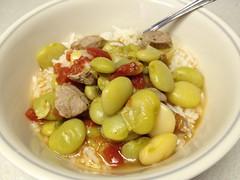 Lima bean soup ready to eat