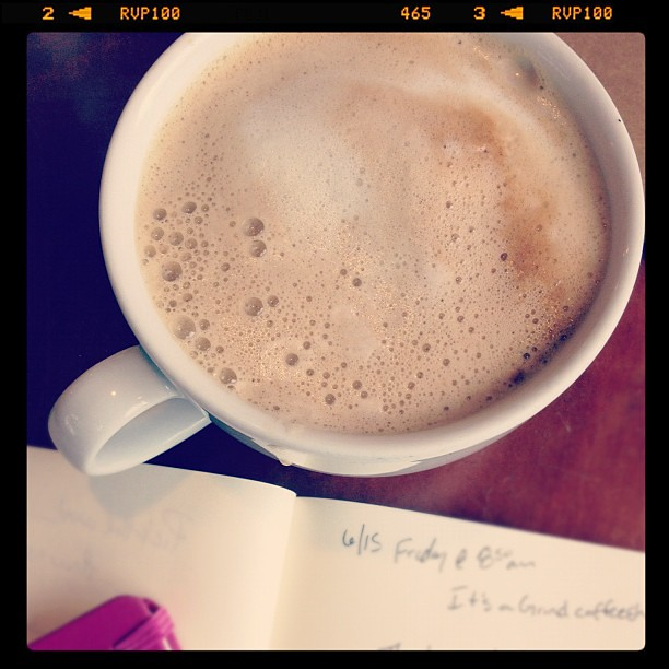 The secret of epiphanies + clarity? Showing up with pen + paper everyday. (soy lattes don't hurt either)