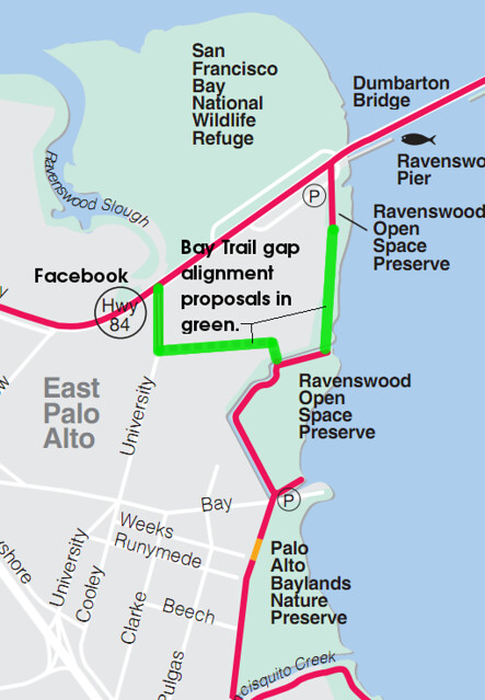 Bay Trail gap between Menlo Park and East Palo Alto