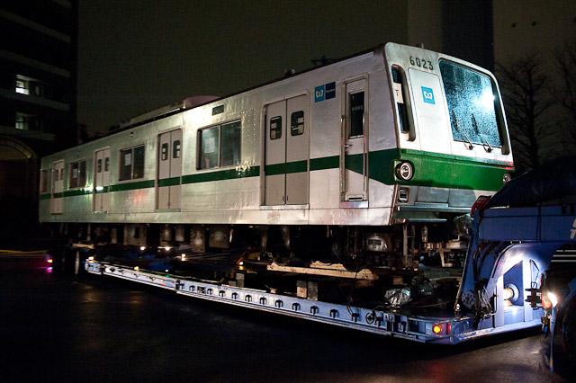 東京メトロ千代田線 6000系 6123F 6023号車 陸送