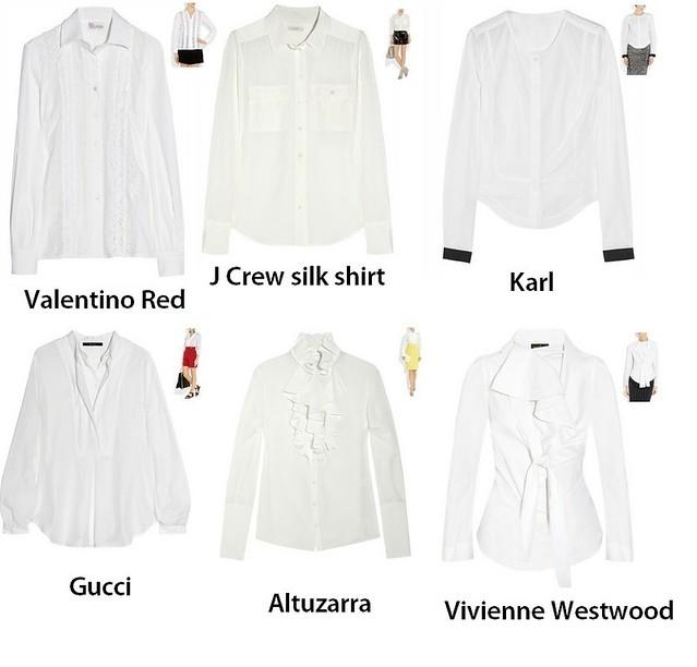 White shirts 2012 spring