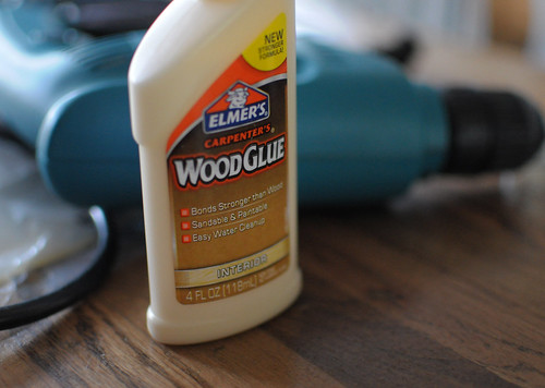 wood glue and drill