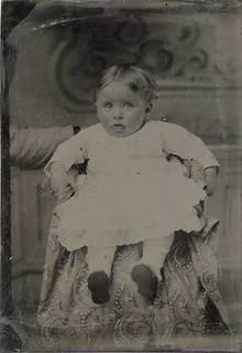"Tintype of Baby with Hidden Mother - ""This Raspberry's For You!"""