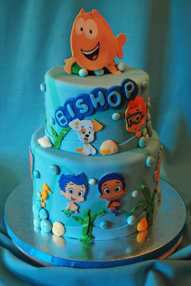 Bubble Guppies Cake Toppers Etsy