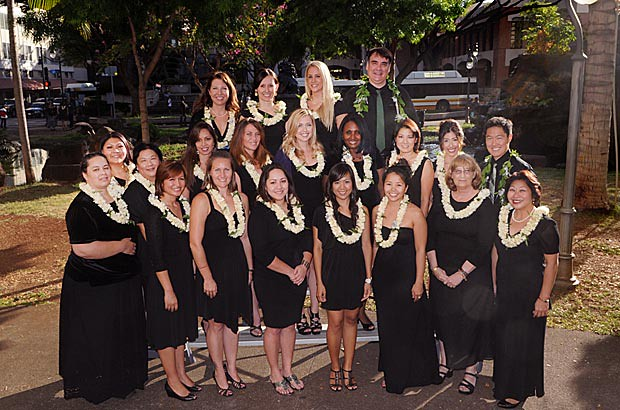 <p>The UH Manoa nursing masters and PhD class of 2012</p>