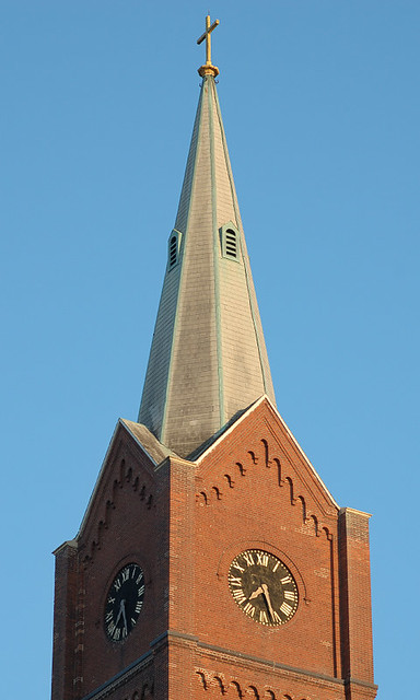 Saint Francis Borgia Roman Catholic Church, in Washington, Missouri, USA - spire