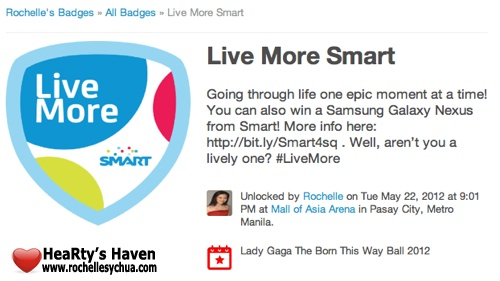 Lady Gaga Live More Smart Badge