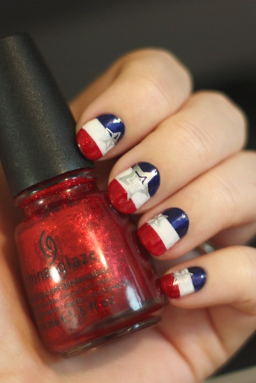 Patriotic Nails Tutorial, 4