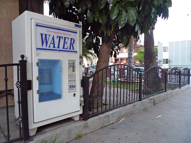 Water in an alley