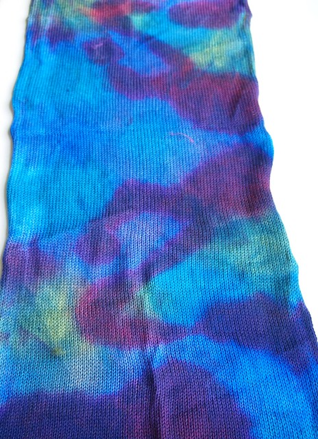 merino sock blanks dyed by Ginny of FatCatKnits