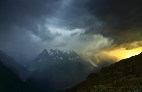 Alpine Storm over Mont Blanc (Explored)