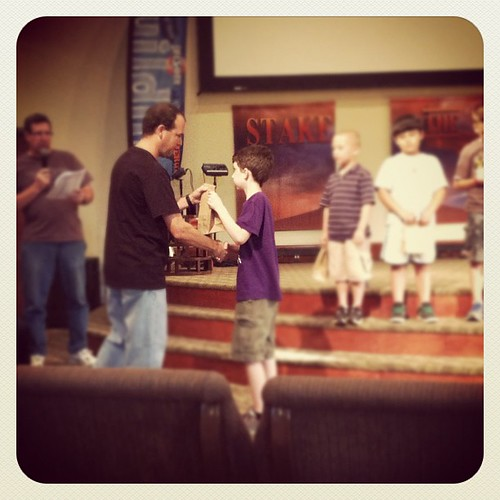 My baby boy receiving the 14 Discovery Ranger awards he has earned this year @lifeassembly #royalrangers #ag