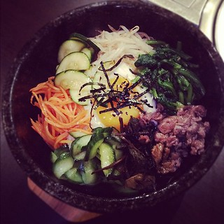 The dolsot bibimbap!! Premix.