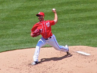 Gio Gonzalez Hurls the Ball