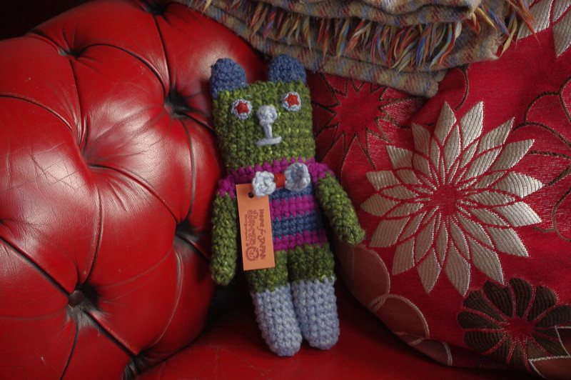 amigurumi #59 green dog