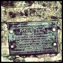 Photo of Andrew Marvell black plaque