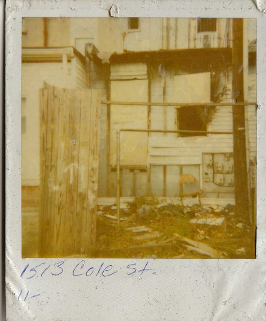 Found Polaroid Photo Labeled 1513 Cole Street