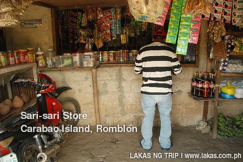 Sari-sari store at San Jose, Carabao Island, Romblon