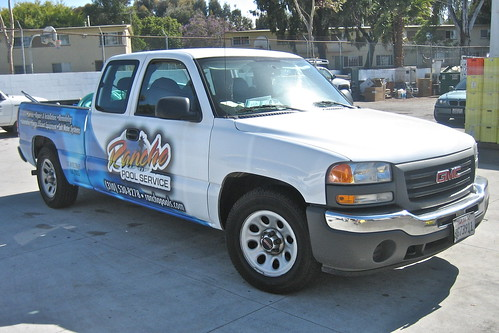Rancho Pool Service wrap - left/front