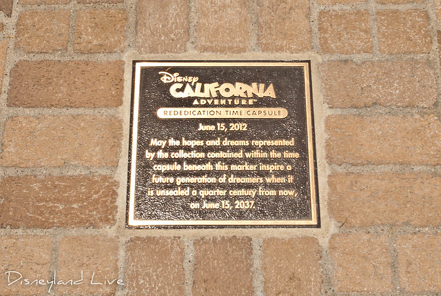 Buena Vista Street - Rededication Time Capsule Plaque
