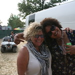 Alabama Shakes was the talk of the festival; WFUV's Rita Houston hangs with Brittany  Howard. Photo by Laura Fedele