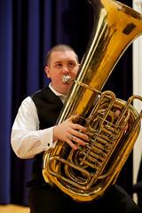 tuba, euphonium, saxophonist, brass instrument, wind instrument,
