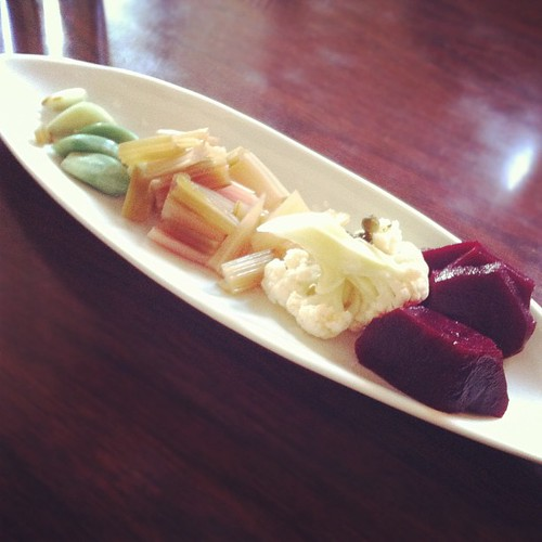 Pickled veggie plate.