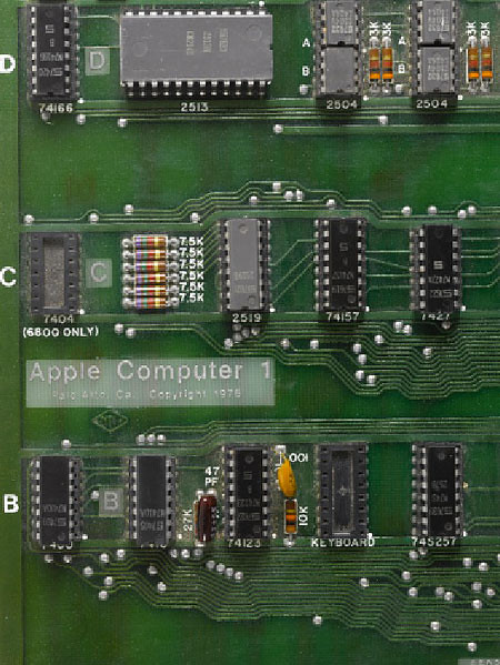 Motherboard komputer Apple generasi pertama