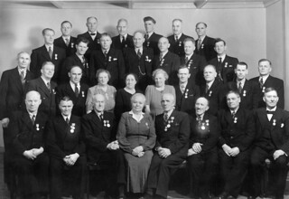 Ranheim Papirfabrikks fest for arbeidere og funksjonærer tildelt Det Kongelige Selskap for Norges Vel's medalje for lang og tro tjeneste (1949)