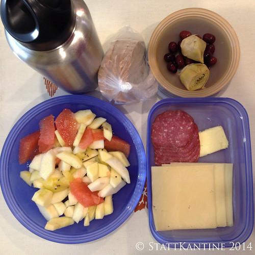StattKantine 22.04.14 - Käse+Salami, Artischocken, Obst