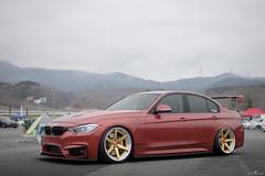 Beautiful Red BMW on Work Wheels