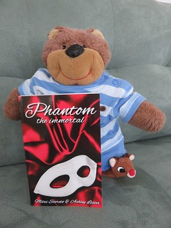 Celebrity bear Teddy Tedaloo gets his paws on a copy of PHANTOM: THE IMMORTAL!