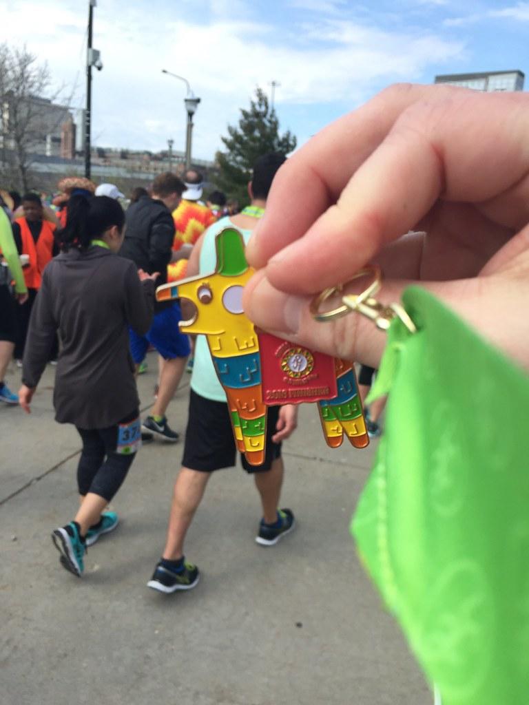 Cinco de Miler piñata medal.