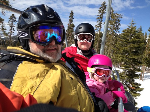 on the lift with grandpa