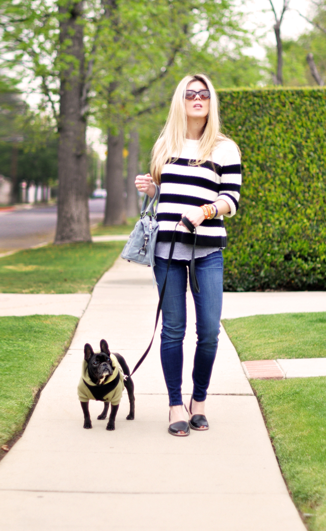 walking the dog outfit  -jeans and a sweater-jigsaw london-frenchic