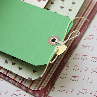 Upcycled Book with The Twinery adorned shipping tag