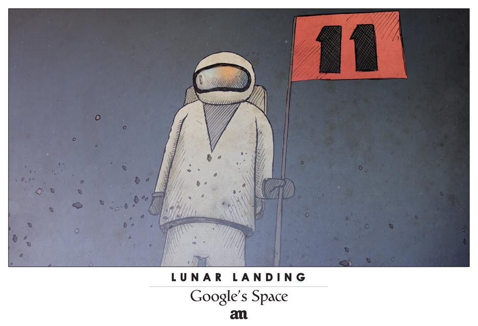 "Lunar Landing ""Google's Space"""
