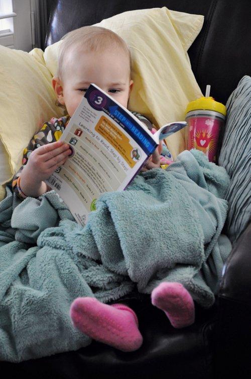 Lola reading 4