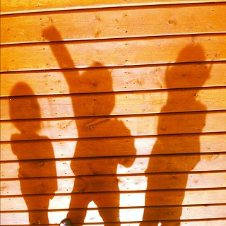 #photoadayapril #shadow - kids rockin it on the sunny deck in #princegeorge