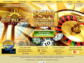 Sun Palace Casino Home