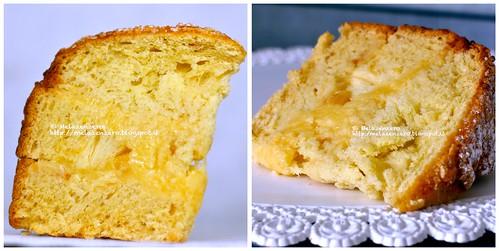 torta di pasqua: impasto colomba con crema ai fiori d'arancio
