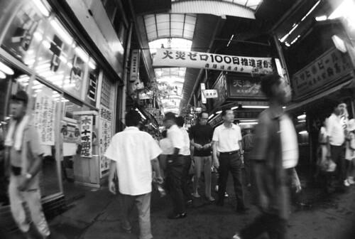 FZ C8 16-18 012 006 大阪市浪花区# Pentax SP + Fish Eye Takumar 18mm F11 / Kodak TRI-X