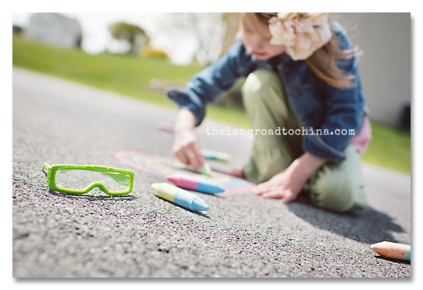 3D Sidewalk chalk Glasses BLOG