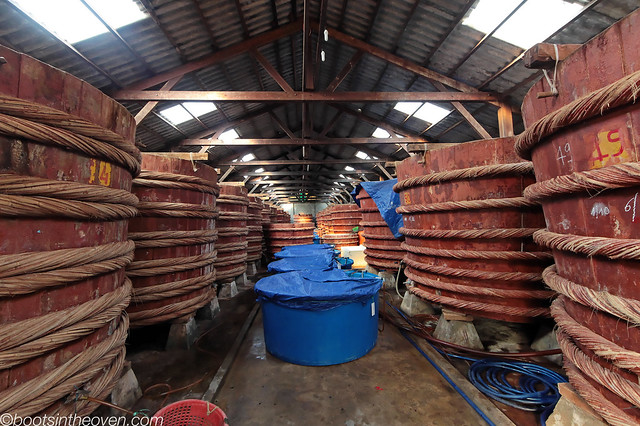 Inside a fish sauce factory