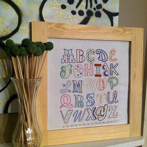 Got the epic alpha sampler framed! Love... #mycraftaddiction #crafting #diy #crafts #handmade #stitching #embroidery #sampler #sublimestitching